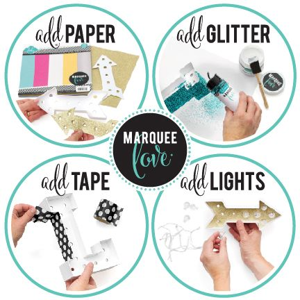If gold, glam, glitter and Heidi Swapp products are your favorite...her new marquee letter line with light up your world!