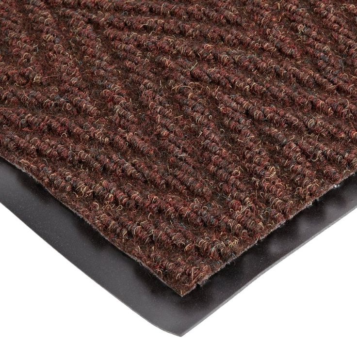 "NoTrax 118 Arrow Trax Entrance Mat, for Main Entranceways and Heavy Traffic Areas, 3' Width x 10' Length x 3/8"" Thickness, Autumn Brown"