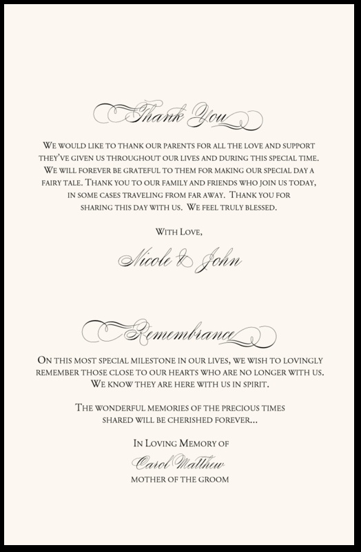 Page 4 Back Cover Wedding Stationery Guestbooks In 2018 Programs Remembrance