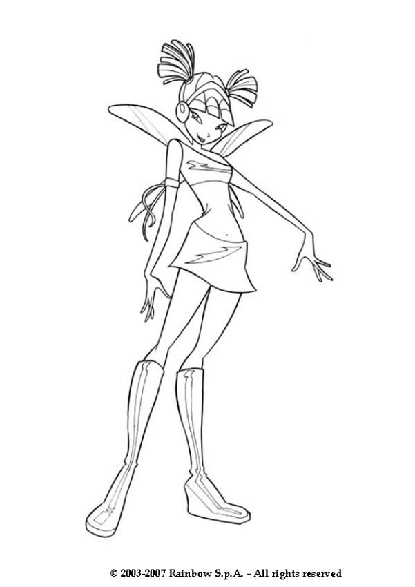 magic winx coloring pages | Musa winx coloring pages