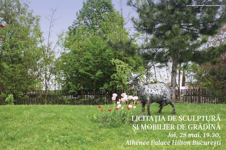 Catalog Artmark Licitatia de Sculptura si Mobilier de Gradina! Recomandari: Ion Iancut - Plimbare cu inorog, bronz, pret estimat 2.000 - 3.000 euro.