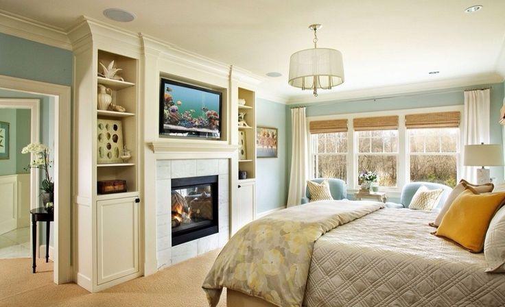 Еще идеи для телевизора в спальне