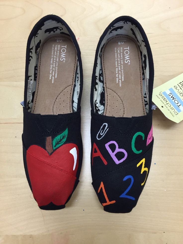 Teacher TOMS (option 1) by AdrienneThompsonArt on Etsy https://www.etsy.com/listing/246546437/teacher-toms-option-1