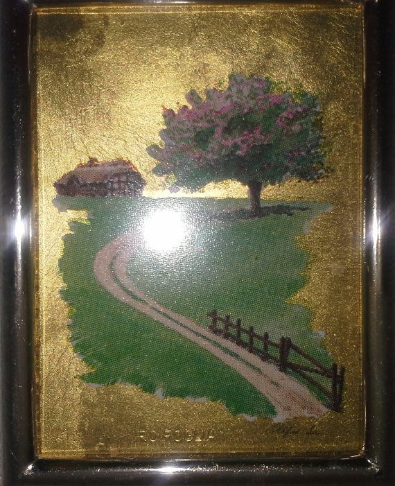Check out this item in my Etsy shop https://www.etsy.com/uk/listing/174606580/gold-plated-small-paintings-four-seasons