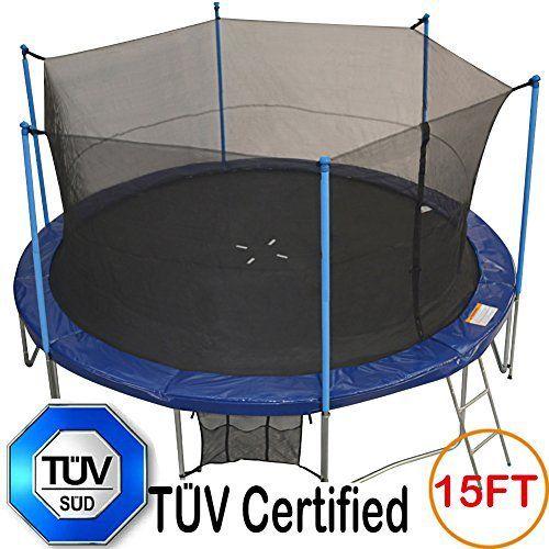 TÜV Approved Zupapa® 15FT 14FT 12FT Tr&oline with Ladder u0026 Pole and Enclosure net u0026 & Best 25+ 12ft trampoline ideas on Pinterest   Trampoline tent ...