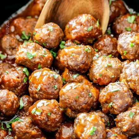 Tender juicy slow cooker Honey Buffalo Meatballs simmered in the most tantalizing sweet heat sauce that everyone goes crazy for! Perfect appetizer or delicious, easy meal with rice!