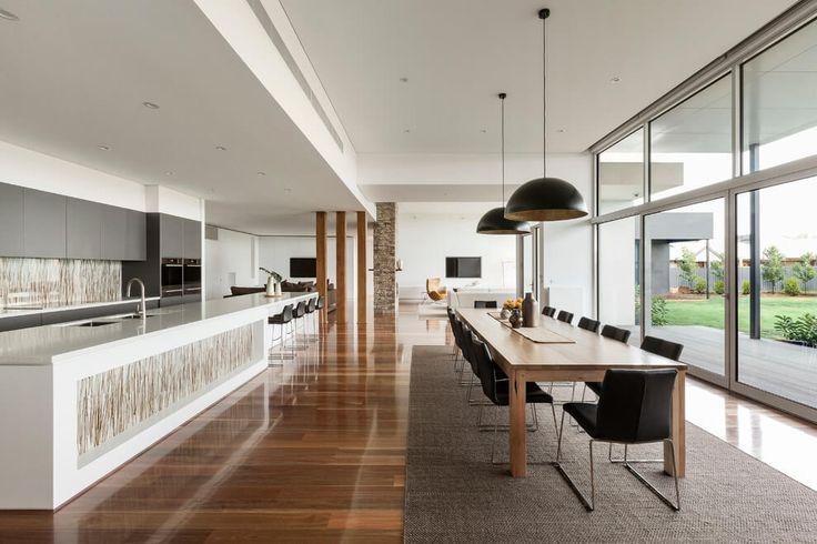 Like this layout. Kitchen dining then outdoor. Good connectivity. Marsh House by LSA Architects