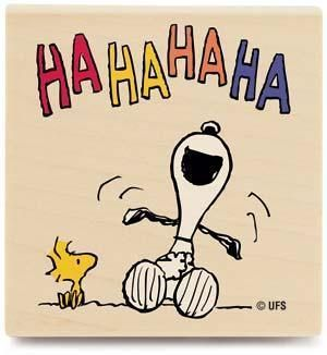 Snoopy loves a good joke