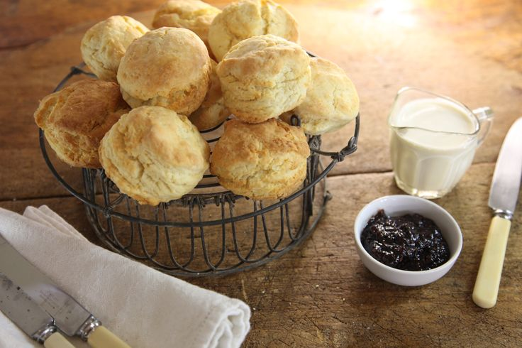 Scones with Maggie's Burnt Fig Jam - Maggie Beer.Tried these,so light came out really well will add sultanas next time.