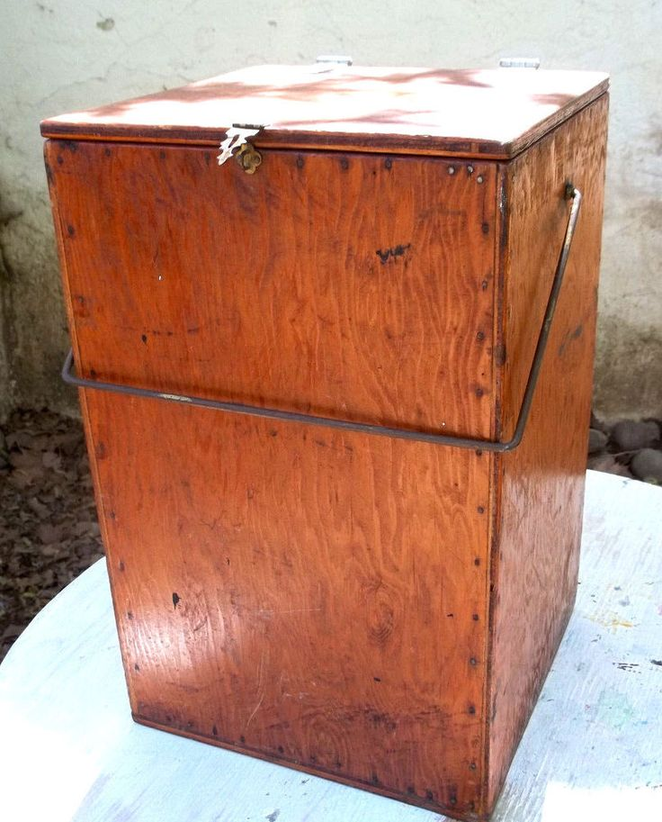 Vintage Coleman Lantern  Custom fit wood carrying box w/ handle 1960's/1970's #Coleman