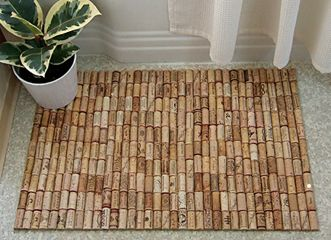 Wine corks corks and wine on pinterest for Wine cork welcome mat