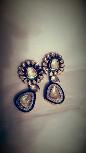 Polki earrings #so pretty #polki #earrings #wedmegood