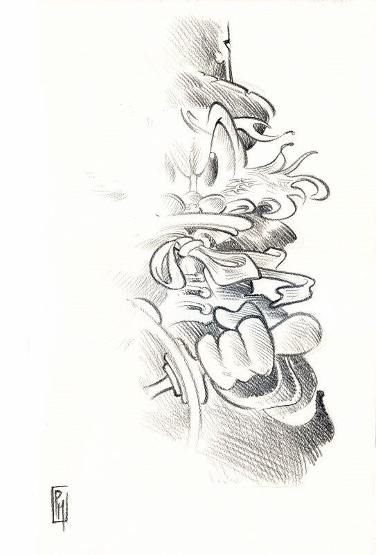 Dedicatoria de Topolino #3003 en Whakoom. Litografía
