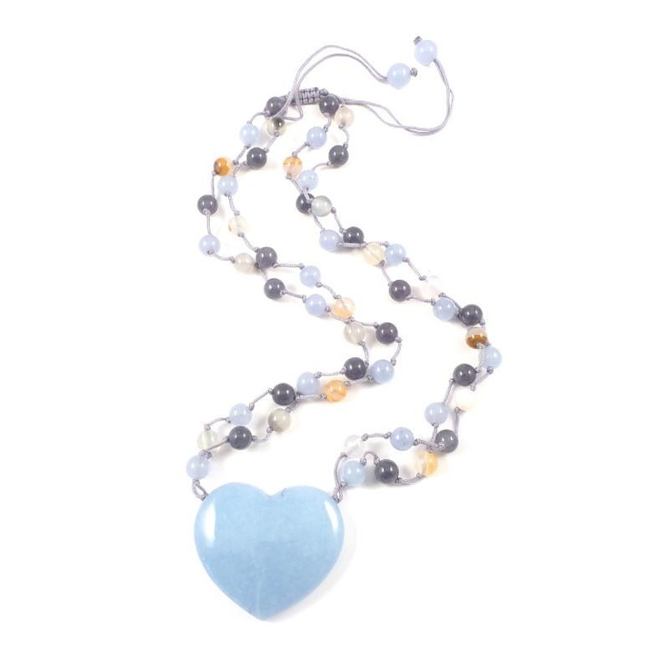 Lola Rose Lux Powder Blue Quartzite Necklace