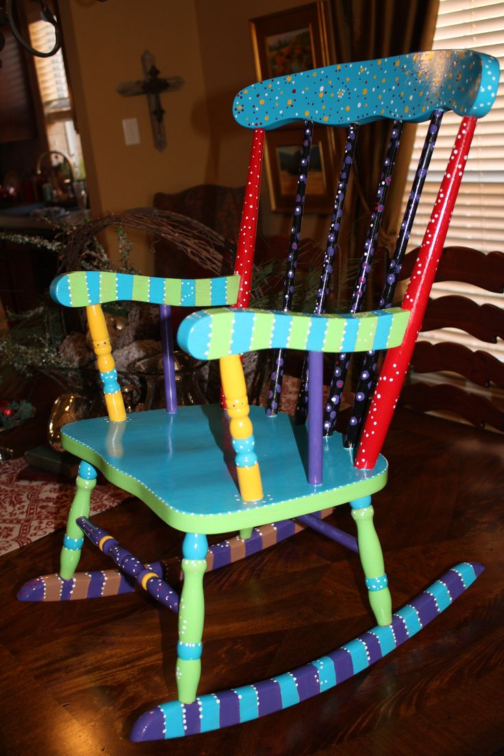 26 best Painted Rocking Chairs images on Pinterest | Painted ...