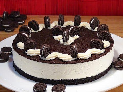 Receta Tarta de galletas Oreo casera - Recetas de cocina, paso a paso, tutorial - YouTube