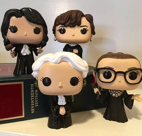 Women of the Supreme Court Custom Funko Pop! Set - each of the four women who have served as justices of the US Supreme Court: Sandra Day O'Connor, Ruth Bader Ginsburg, Sonia Sotomayor and Elena Kagan #ad #funkopop