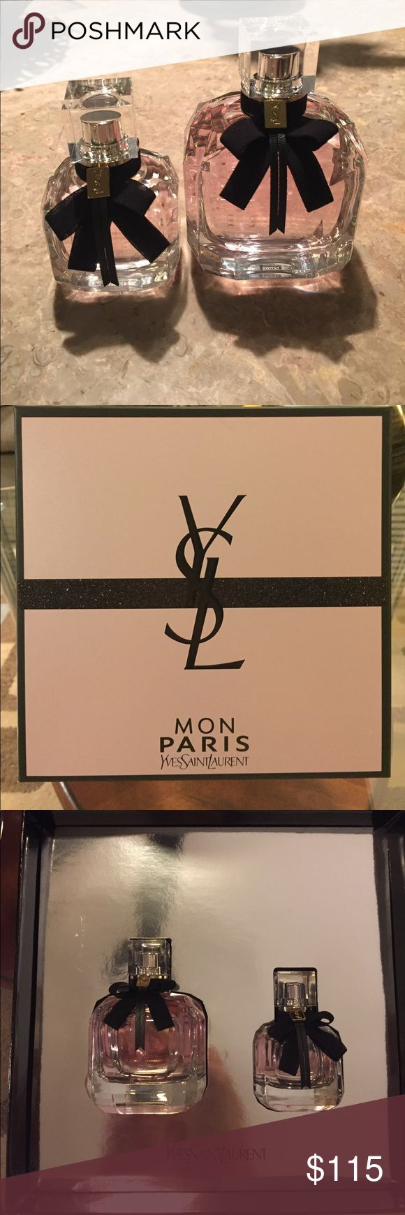 🔥SALE🔥Yves Saint Laurent Mon Paris Eau De Parfum Yves Saint Laurent Mon Paris eau de parfum! 💝 BRAND NEW 🎁 3oz bottle & 1oz bottle ♥️ The perfect gift 😊 Delightful scent 🌹🌹🌹 GREAT PRICE. . . WON'T LAST LONG!! 🌻 💲PRICED TO SELL QUICKLY!! 💰 🔥1 DAY SALE🔥 Yves Saint Laurent Other