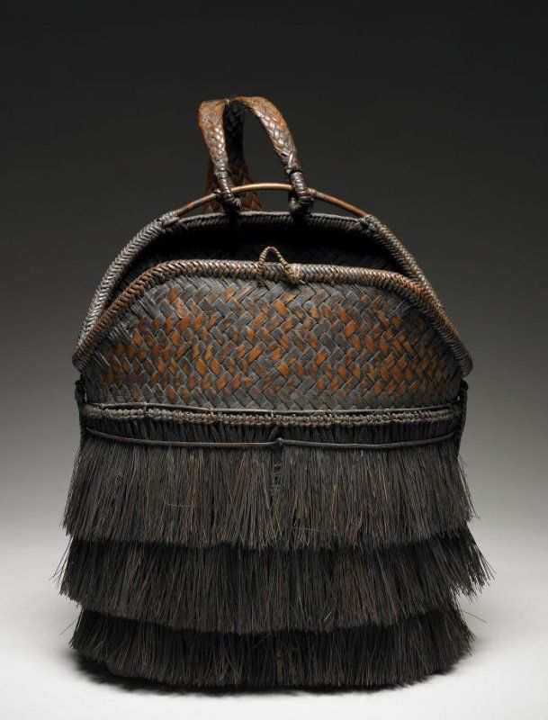 Backpack from the Philippines | Bamboo, rattan, pine needles | 20th century