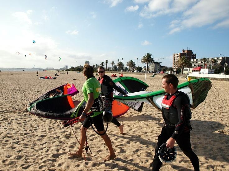 Kite Surfing - St Kilda Beach