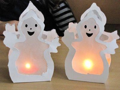 Herbst / Halloween // Süße Gespensterlampen für…