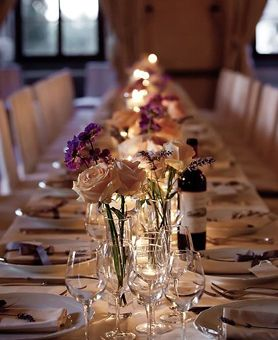 Table Setting Castello Vicchiomaggio Italy Destination Wedding