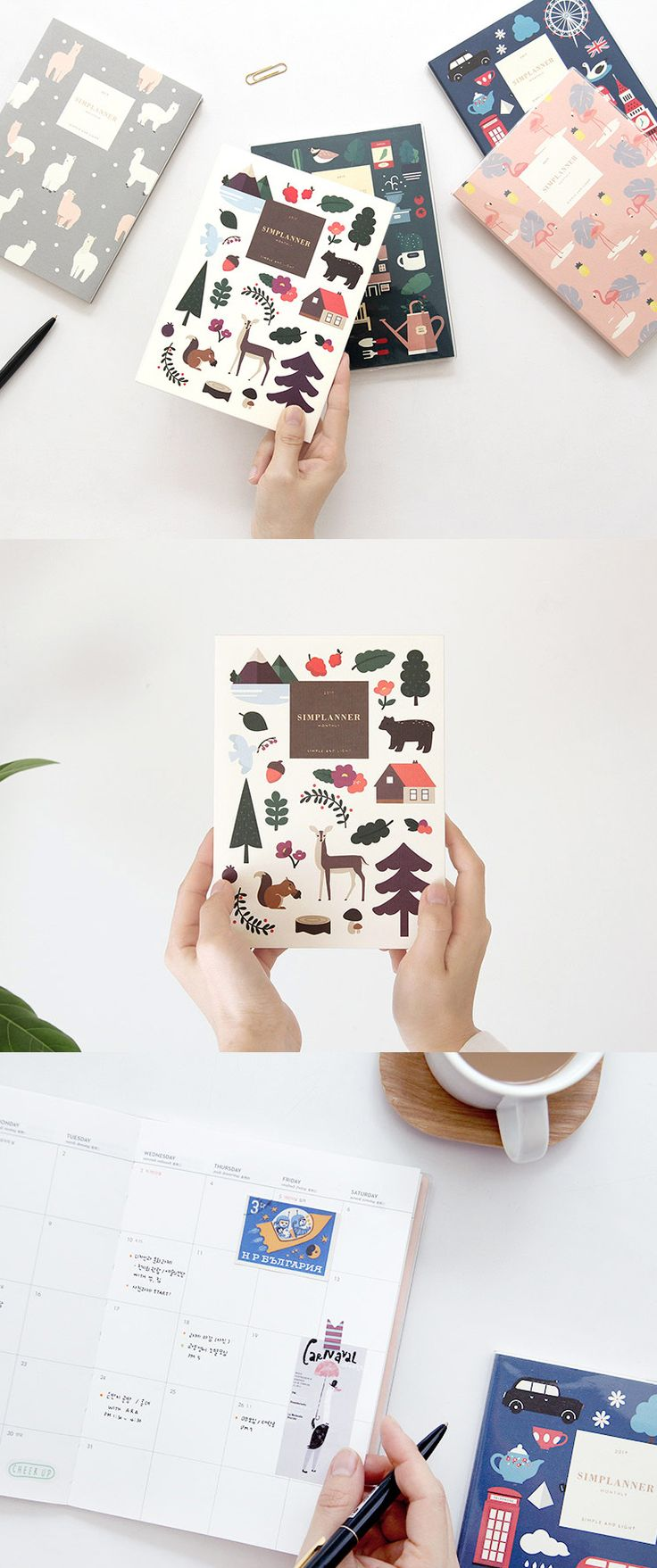 This simple yet adorable planner is made for your productive 2017. This small size planner also has a great portability!
