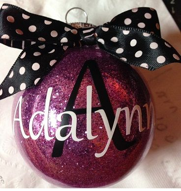 May have each one of my brothers decorate their own and hang it on the tree this year. Cool idea.