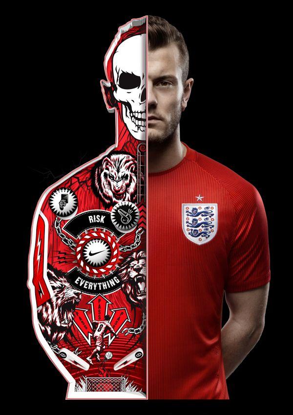 Jack Wilshere. Promoção da Nike para a seleção inglesa feita pela W+K em parceria com a I Love Dust.