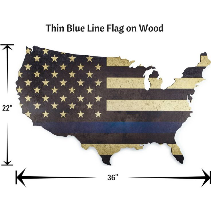 "Excited to share the latest addition to my #etsy shop: Thin Blue Line Flag Printed on Wooden USA Map - 36""x22"" Wall Art http://etsy.me/2jHPbpS #art #finelineflag"