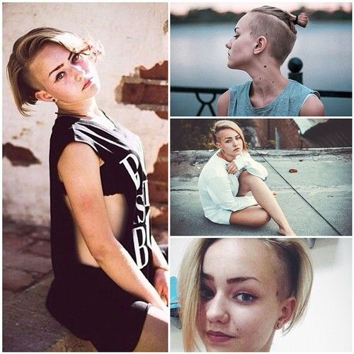 This girl rocks this hairstyle