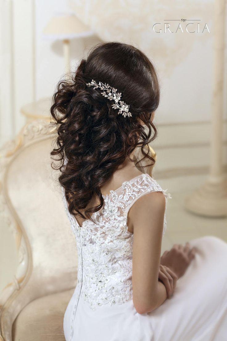 Bridal hairpiece Crystal hair comb Wedding headpiece by TopGracia