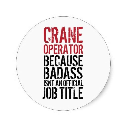how to get a job as a crane operator