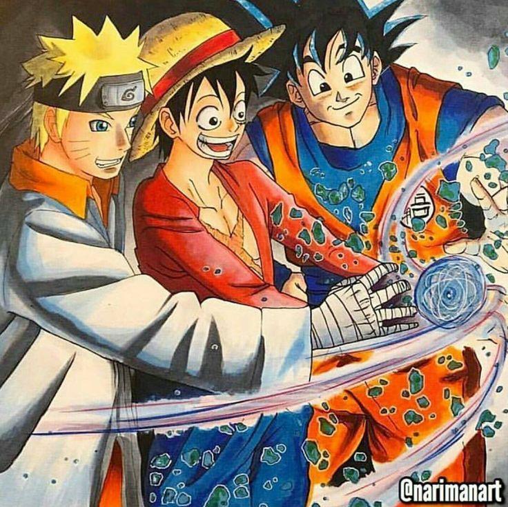 Naruto, Luffy & Goku Anime e Manga