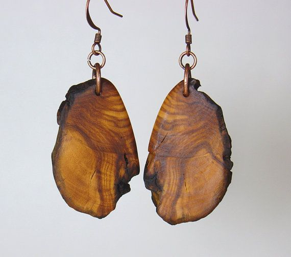 Olive wood earrings http://www.etsy.com/people/OliveWoodJewellery