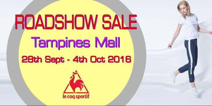 Le Coq Sportif Singapore Tampines Mall Roadshow Sale Promotion 28 Sep - 4 Oct 2016