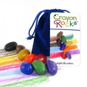Crayon Rocks 8 kleuren in blauw zakje