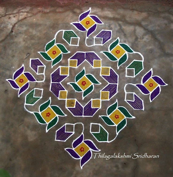 1275 best rangoli designs images on pinterest rangoli for Floor rangoli design