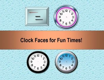 50 best materiales fichas e ideas docentes images on pinterest these are clock faces from two of my clip art products you can use fandeluxe Image collections