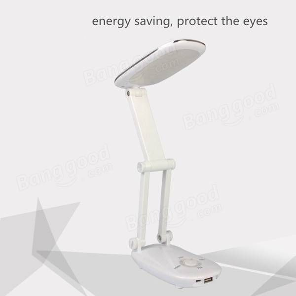 Folding Rechargeable USB LED Touch Sensor Power Bank Table Lamp for Reading Study Sale - Banggood.com