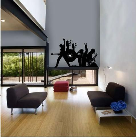 Vinilos Decorativos- Dj, Saxo, Banda, Coro, Guitarrista, WALL STICKER DECOR