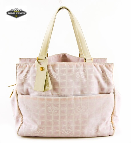 authentic chanel travel pink canvas diaper bag kids pinterest neutral colors canvases. Black Bedroom Furniture Sets. Home Design Ideas