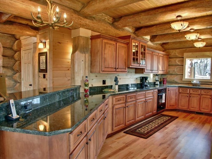 35 best images about log cabins kitchens on pinterest for Kitchen ideas for log homes