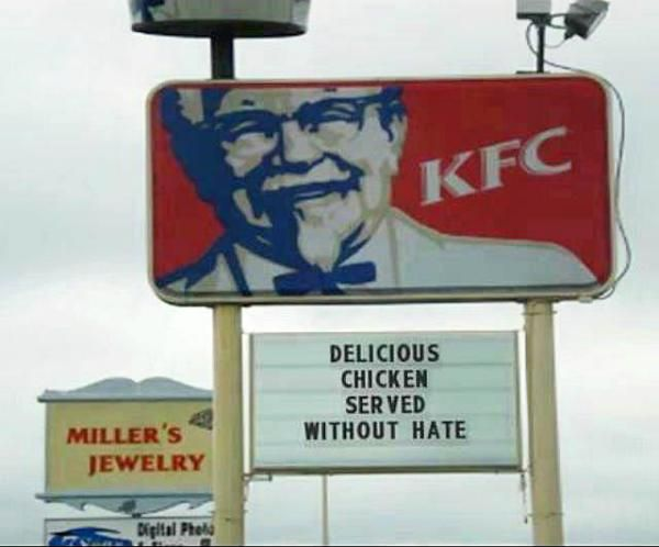Funny Kfc Signs: 53 Best Images About BOYCOTT: CHICK-FIL-A On Pinterest