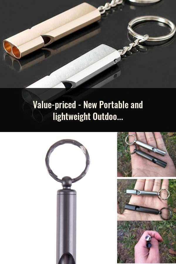 Portable Mountain Outdoor Survival Emergency Whistle Key Chain Safety Outdoor C