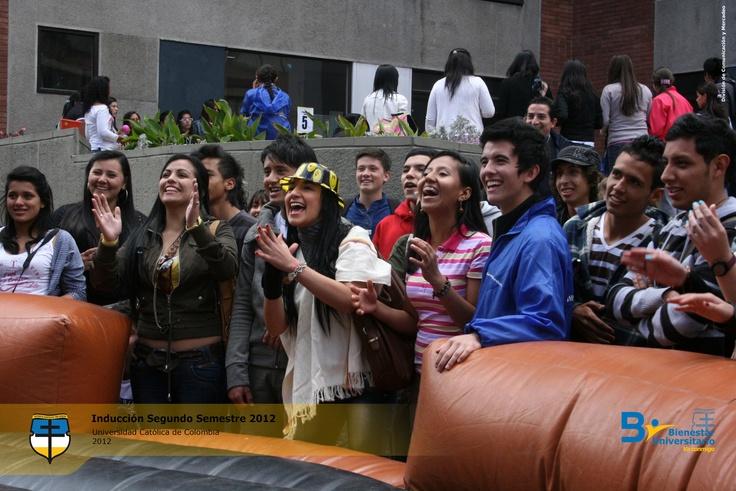 Inducción Segundo Semestre 2012 en Universidad Católica de Colombia.
