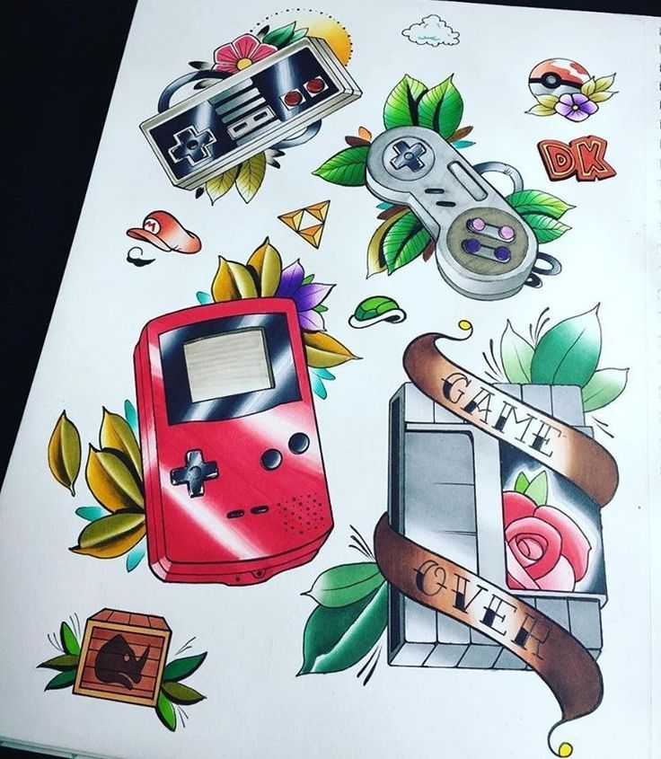 Image result for traditional gaming tattoo