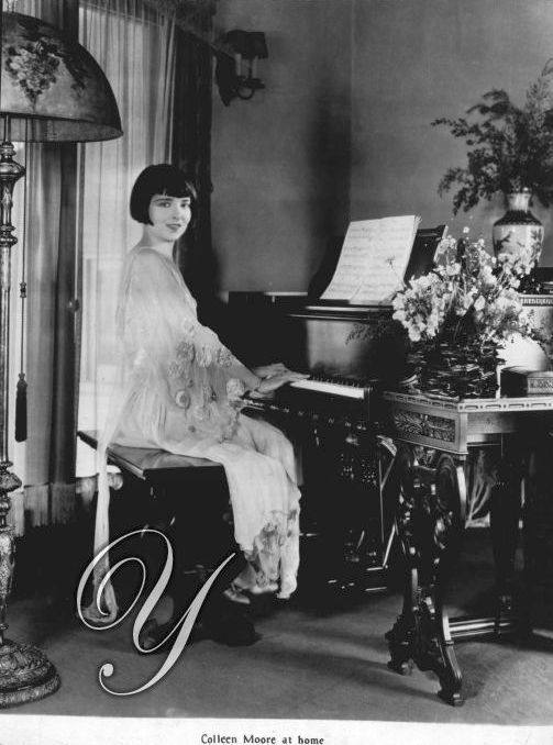 Colleen Moore at the piano