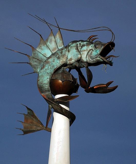 #Sculpture, Mayflower Marina, #Plymouth. #fish