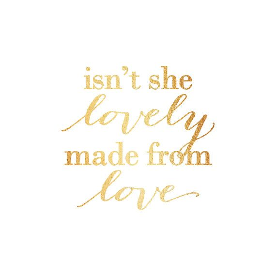 Isn't she lovely gold print / Stevie Wonder by DesignOnCloudNine, $8.00